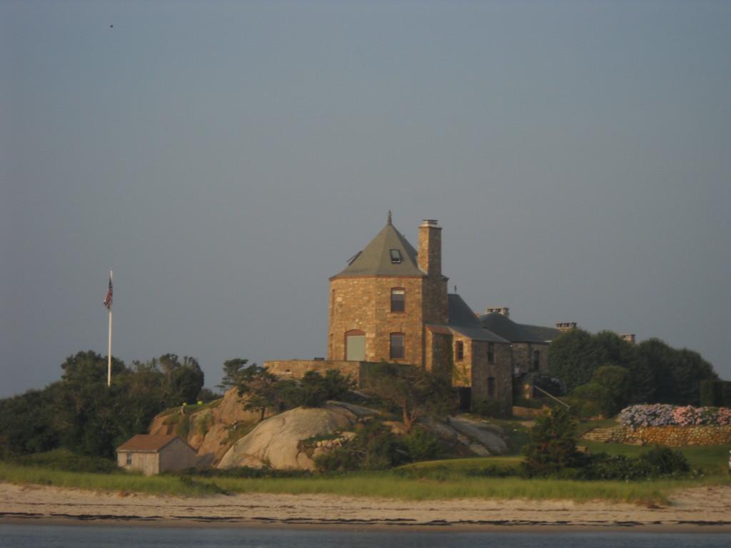Castle guarding the entrance to Westport Harbor