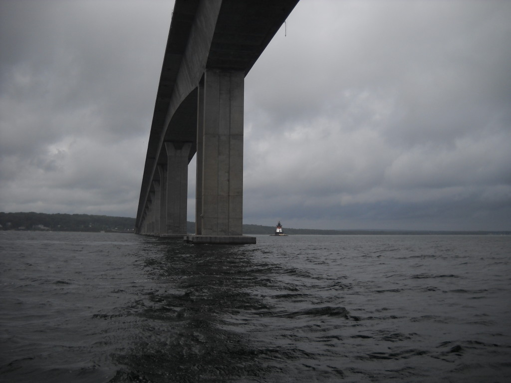 Jamestown Bridge and buglight