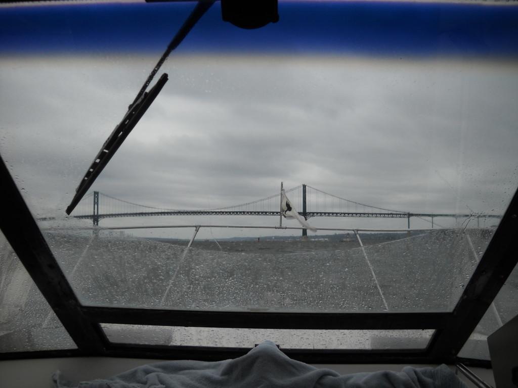 The Mount Hope Bridge.