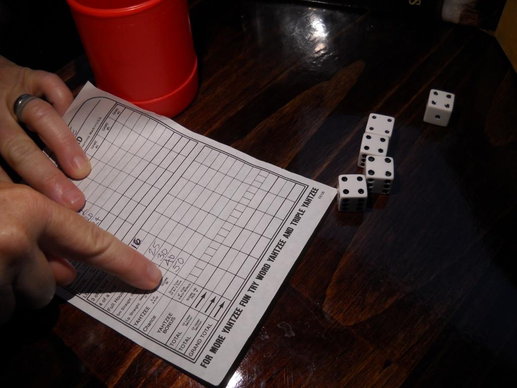 Three Yahtzees in one game!