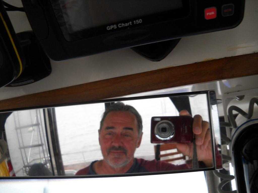 Selfie in the rear view mirror