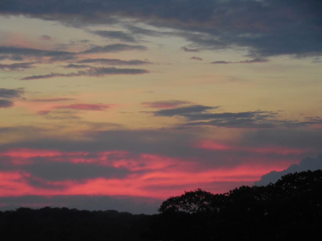 Sunset over Gardiners Island