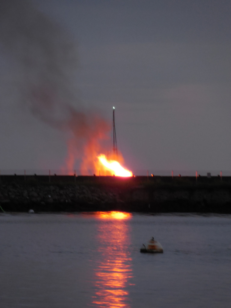 Bonfire on Grinnel's beach