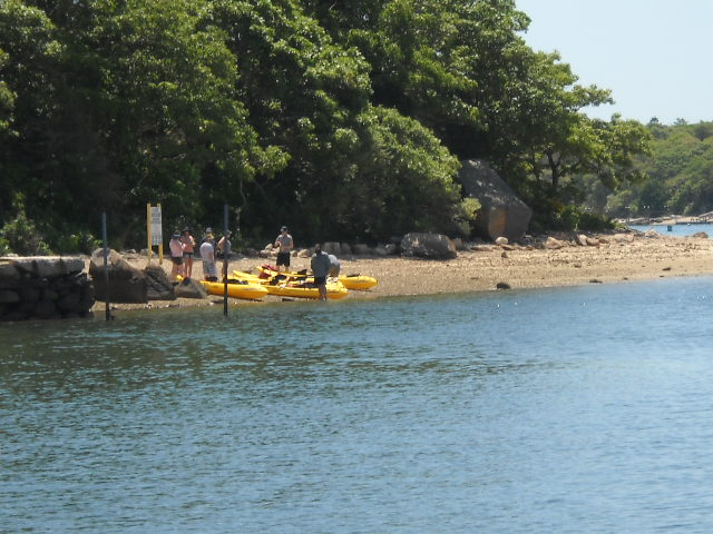 Kayakers on Wickets Island.